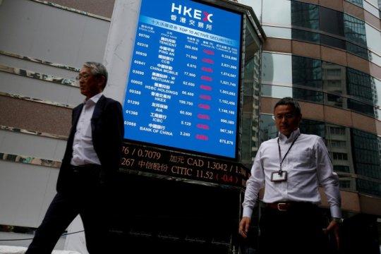 Saham Hong Kong jatuh 1,6 persen, turun dari tertinggi 32 bulan