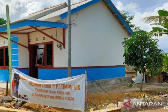 PT Timah serahkan 12 rumah ke warga tidak mampu di Babel