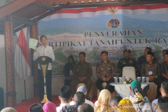 Presiden Jokowi sebut penyerahan sertifikat simbol Natuna wilayah RI