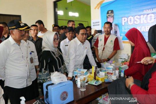 Menteri Desa PDT tinjau lokasi bencana di Lebak