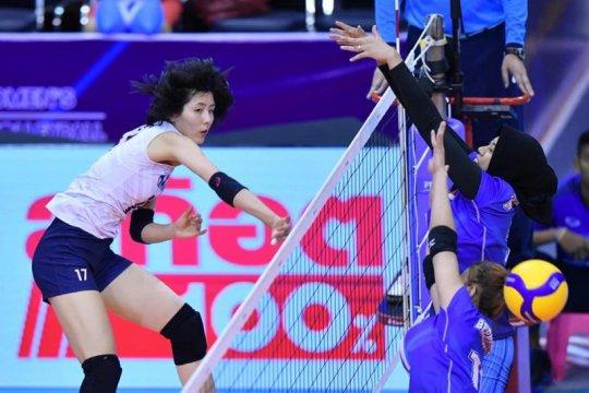 Tim voli putri Indonesia tutup kualifikasi Olimpiade dengan kemenangan