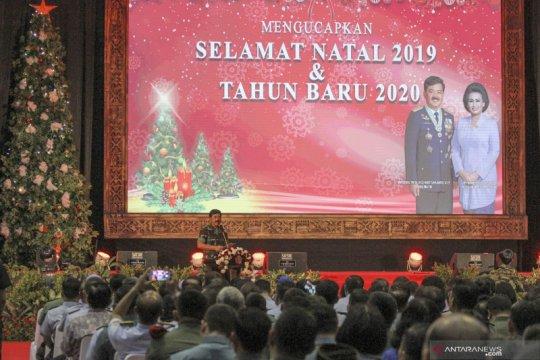 Perayaan natal bersama TNI