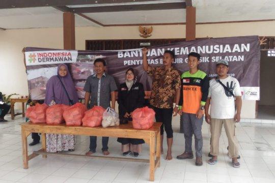 ACT-MRI Jawa Timur salurkan bantuan pangan korban banjir Gresik