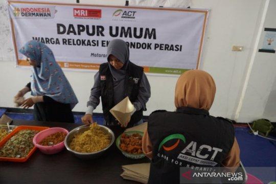 ACT-MRI bangun dapur umum untuk pengungsi di Mataram