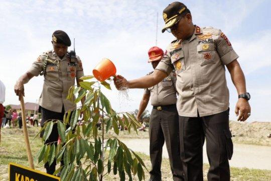Kapolda Sumut: Penanaman pohon rutin dilaksanakan di lahan kritis