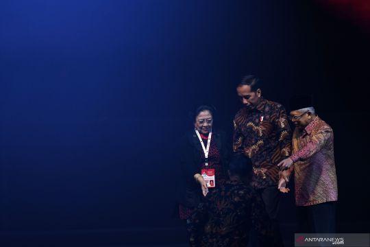 Presiden Joko Widodo hadir di pembukaan Rakernas I PDI Perjuangan