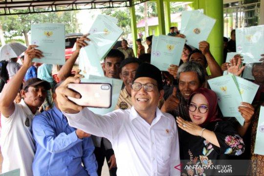 Menteri Desa minta sertifikat tanah pembagian jangan dijual