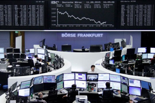 Saham Eropa jatuh dari tertinggi, tertekan virus dan regulasi China