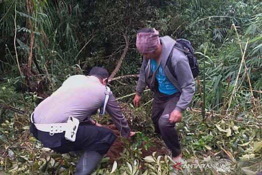 Konservasi air, polisi-petani tanam beringin di lereng Gunung Sumbing