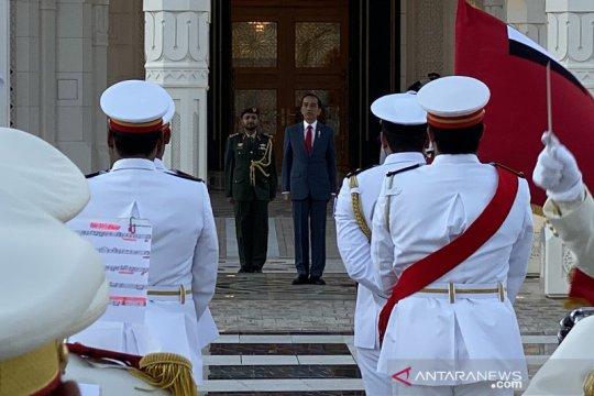 Jokowi disambut upacara kenegaraan di Istana Qasr Al Watan UEA
