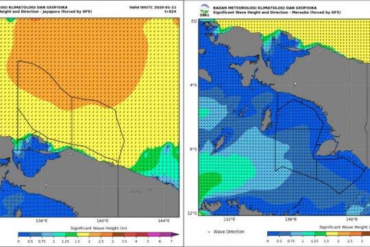Potensi gelombang tinggi di Papua dan Papua Barat capai empat meter