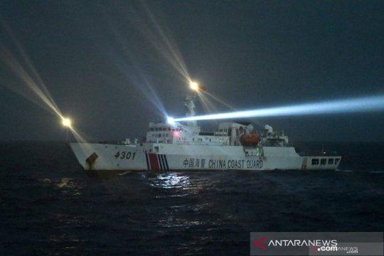 Begini Penampakan kapal Coast Guard China di ZEE Natuna