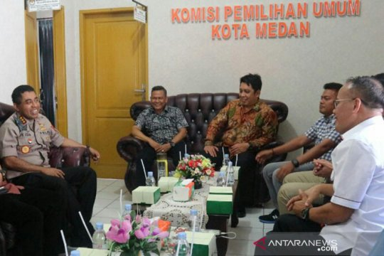 KPU-Polrestabes siap bekerja sama sukseskan Pilkada Medan 2020