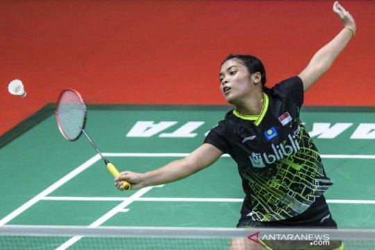Gregoria hadapi Putri pada final turnamen internal PBSI