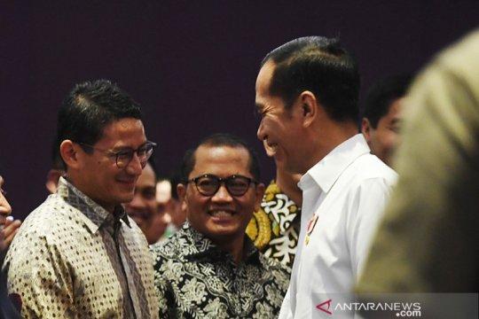 Hadiri acara HIPMI, Jokowi sebut Sandiaga kandidat Capres 2024