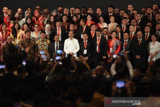 Presiden Jokowi: Kabinet Indonesia Maju seperti kabinet HIPMI