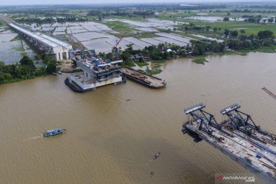 Pembangunan tol Kapal Betung terus dikebut