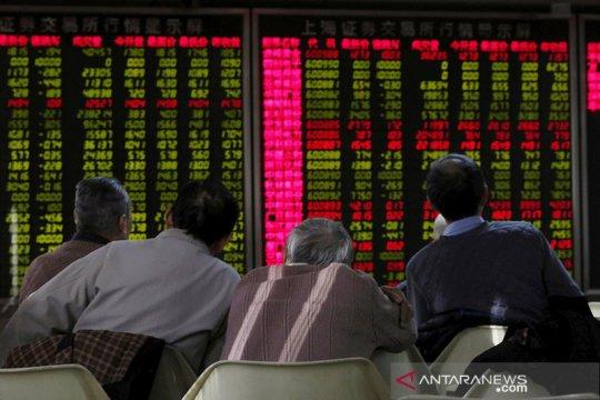 Saham China ditutup melonjak, catat keuntungan hari kedua beruntun
