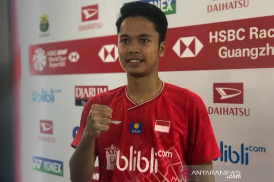 Anthony amankan tiket final tunggal putra Indonesia Masters 2020
