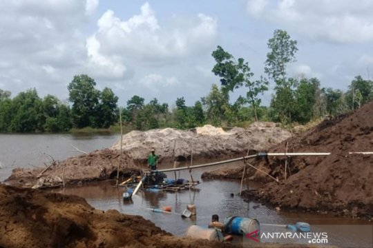 Polres Bintan tertibkan penambangan pasir ilegal