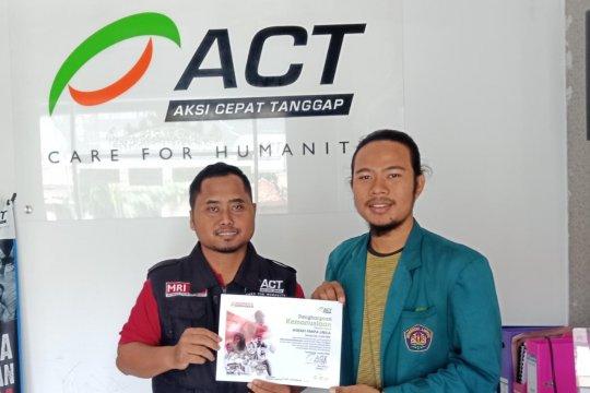 HIMAFI UNILA salurkan bantuan banjir dan longsor ke ACT Lampung