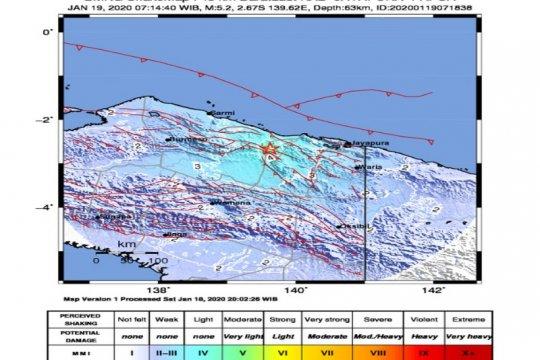 Gempa di Papua bukti Sesar Anjak Mamberamo zona sumber paling aktif