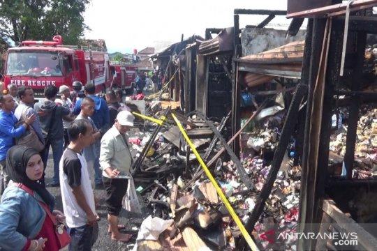 Pasar penampungan di Sukabumi kembali terbakar