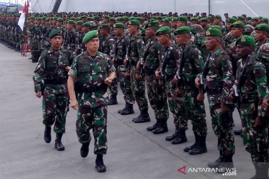 Pangdam Hasanuddin terima 600 personel pascabangun jembatan di Papua