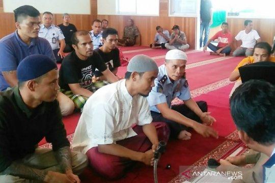 Seorang warga binaan Lapas Bukittinggi masuk Islam