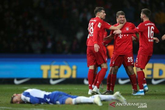 Bayern rebut peringkat kedua setelah tundukkan Hertha