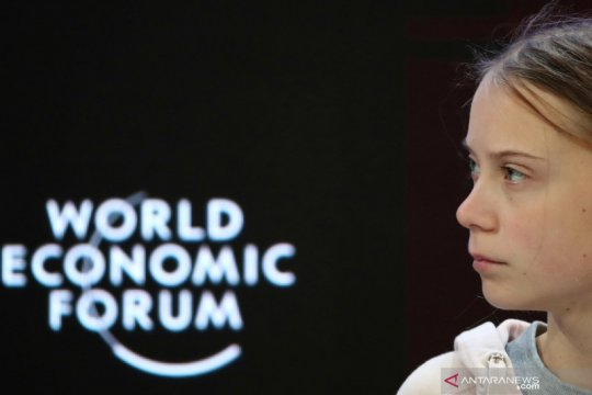 Aktivis perubahan iklim Greta Thunberg hadiri World Economic Forum
