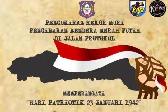 Bendera merah putih 2.300 meter akan meriahkan Hari Patriotik