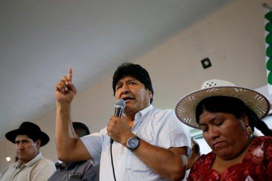Morales adakan rapat umum di Argentina untuk tandai akhir masa jabatan