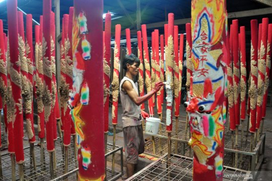 Jelang imlek, permintaan hio di Medan meningkat