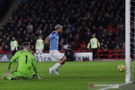 Aguero jadi pembeda Man City atas Sheffield United