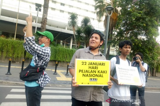 Koalisi Pejalan Kaki tuntut hukum Indonesia lindungi hak pejalan kaki