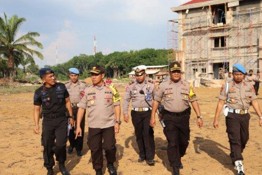 Wakapolda Lampung meninjau pembangunan markas Brimob baru