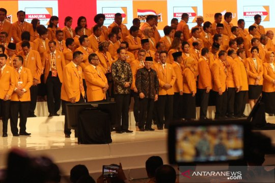 Presiden dan Wapres hadiri pengukuhan pengurus DPP Partai Hanura