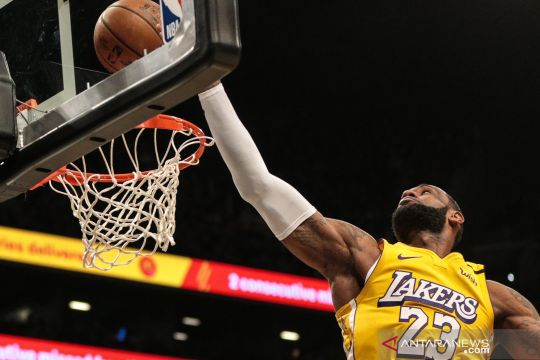 NBA: LA Lakers kalahkan Nets 128-113