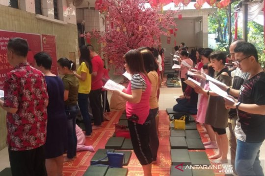 Puluhan polisi jaga ketat Wihara Borobudur di Medan