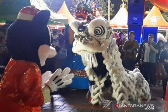 Imlek 2571 di Thamrin 10 Jakarta dimeriahkan atraksi barongsai