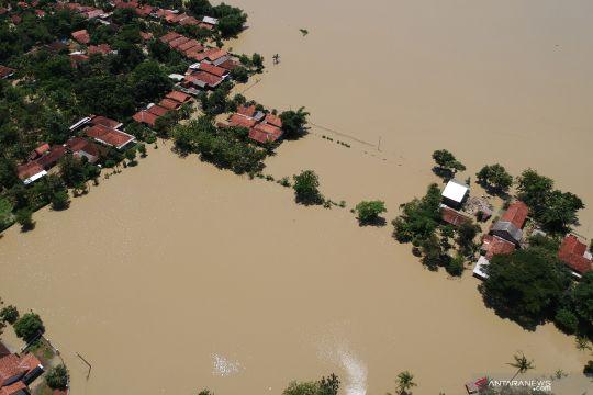 Foto udara banjir di Pekalongan