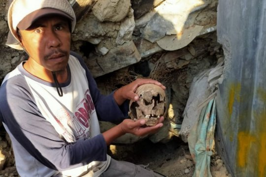 Di bekas bencana likuefaksi Petobo, Palu ditemukan kerangka manusia