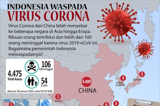 Indonesia waspada virus corona