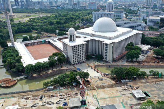 Perkembangan renovasi Masjid Istiqlal