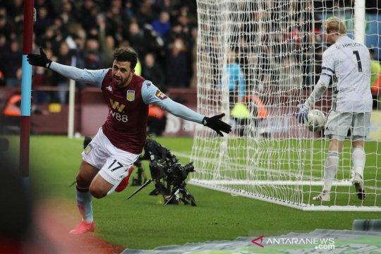 Aston Villa secara dramatis lewati Leicester ke final Piala Liga
