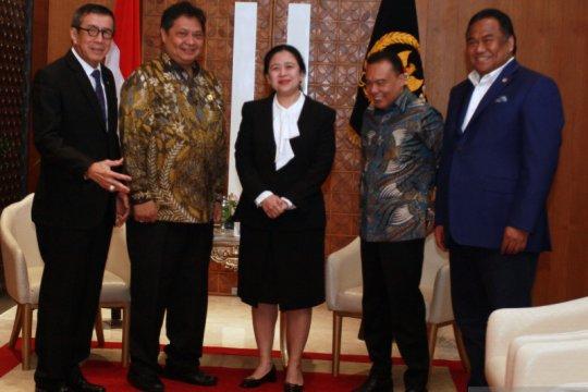 Pimpinan DPR temui MenkumHam dan Menko Perekonomian