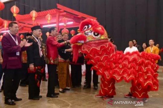 Presiden Jokowi ajak kerja lebih keras dalam perayaan Imlek nasional