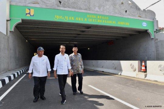 Presiden Jokowi resmikan lintas bawah bandara internasional Yogyakarta