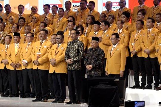 Presiden Jokowi hadiri Pengukuhan DPP Partai Hanura 2019-2024